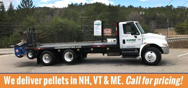 Harris Energy will DELIVER PELLETS in NH, VT & ME.